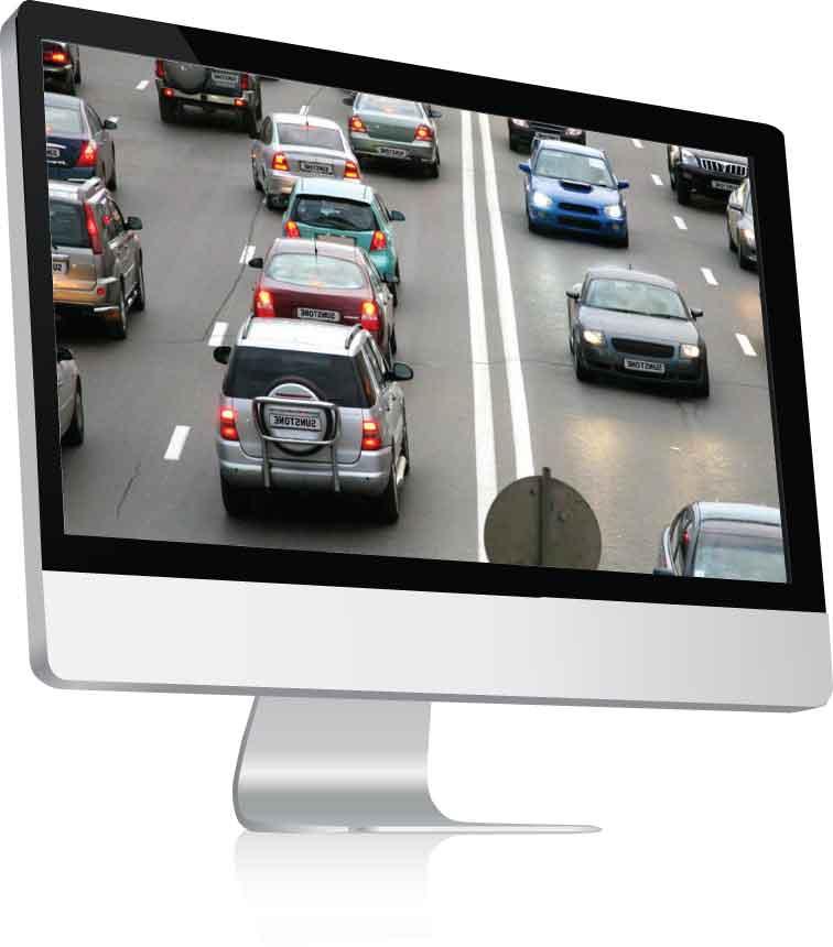 High Definition CCTV Footage Screen