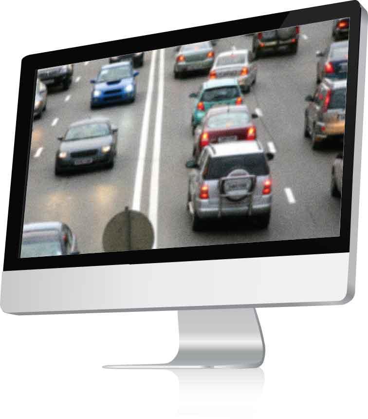Standard Definition CCTV Footage Screen