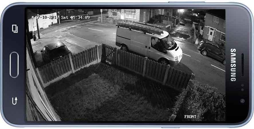 CCTV at Night on Smartphone