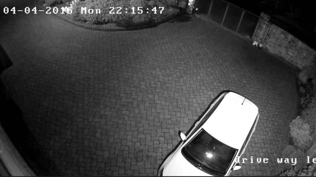 Zone CCTV Photo Library - Front Drive at night