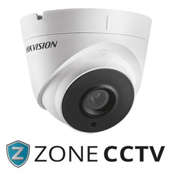 Zone CCTV Logo and Dome Camera