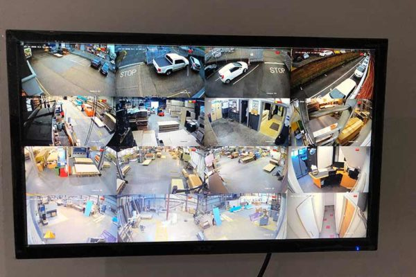 Commercial CCTV Install - Spa World, Leeds factory - multiscreen CCTV