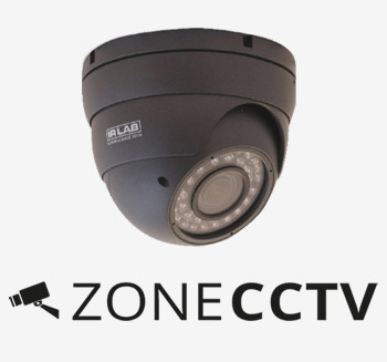 Zone CCTV Logo and Dome Camera