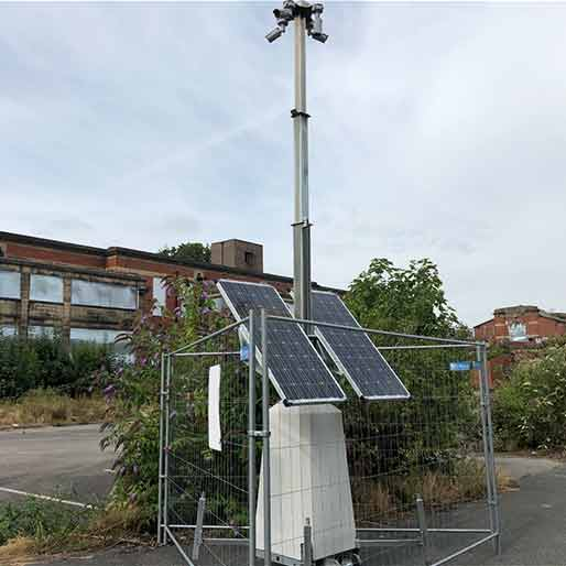 Solar Powered CCTV Security Tower by Zone CCTV