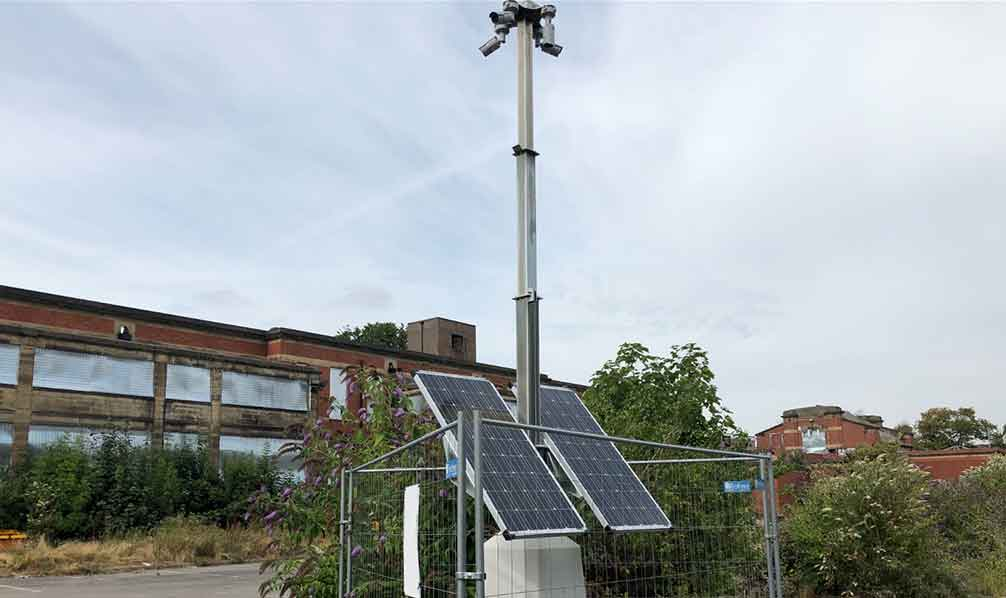 Solar Power CCTV Tower for Construction Sites/Events - Zone CCTV